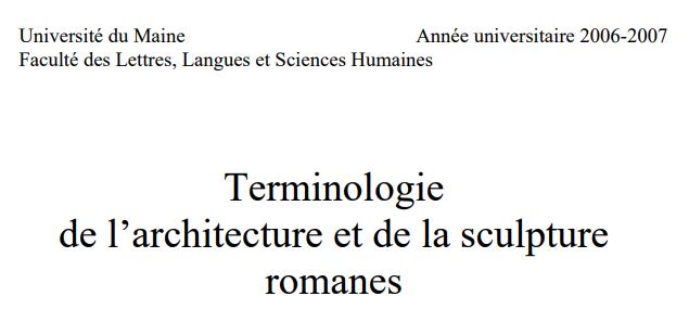 Fr de pdf terminologie de l architecture et de la for Architecture romane definition